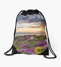 The Needles At Sunset Isle Of Wight Drawstring Bag