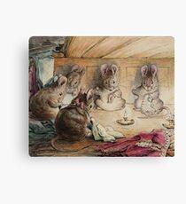 Die Mäuse nähen Mäntel von Beatrix Potter Leinwanddruck