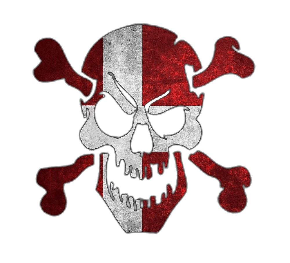 denmark skull flag