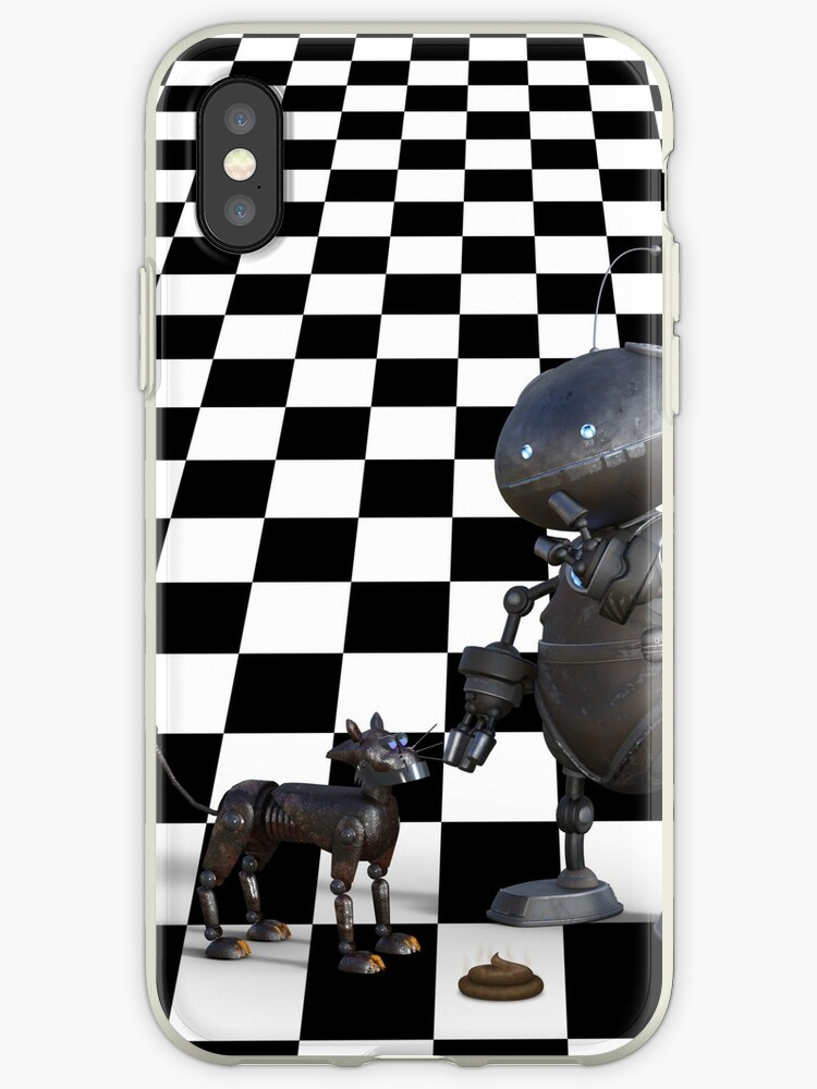 Funny Robot Dog Dangers Of Ai Iphone Case By Podartist