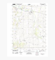 USGS TOPO Map Illinois IL Stillman Valley 20120807 TM Photographic Print