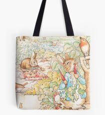 The World Of Beatrix Potter large vintage illustration Tote Bag