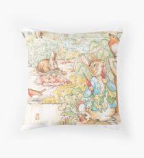 Die Welt von Beatrix Potter große Vintage Illustration Bodenkissen