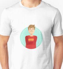 Doubtful Emotion Body Language Illustration T-Shirt