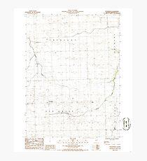 USGS TOPO Map Illinois IL Woodworth 309120 1986 24000 Photographic Print