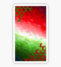 O Christmas Tree Color Print Sticker
