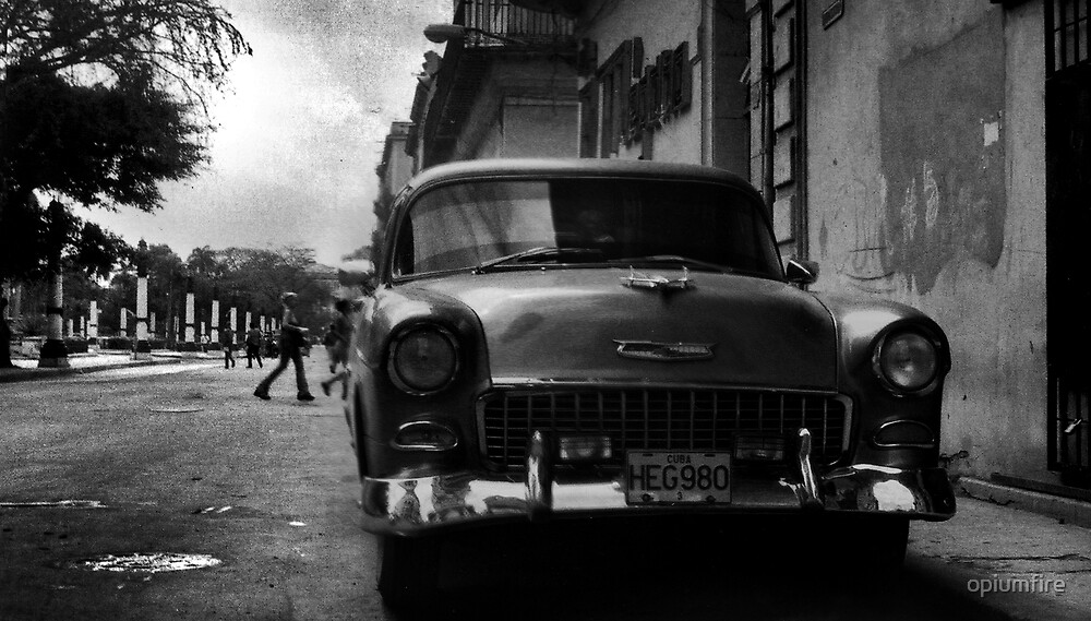 havana car scene by opiumfire