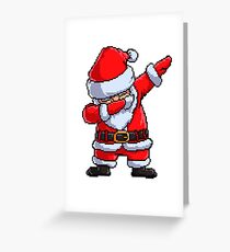 Santa Claus Dabbing Pixel Art T Shirt Christmas Dab Dance Gifts Greeting Card