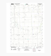USGS TOPO Map Illinois IL Woodworth 20120808 TM Photographic Print