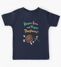 Peace, Love and Vegan Doughnuts! Kids Clothes