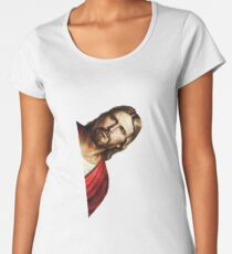 Peeking Jesus Parody - Funny Jesus Meme Sticker T-Shirt Pillow Women's Premium T-Shirt