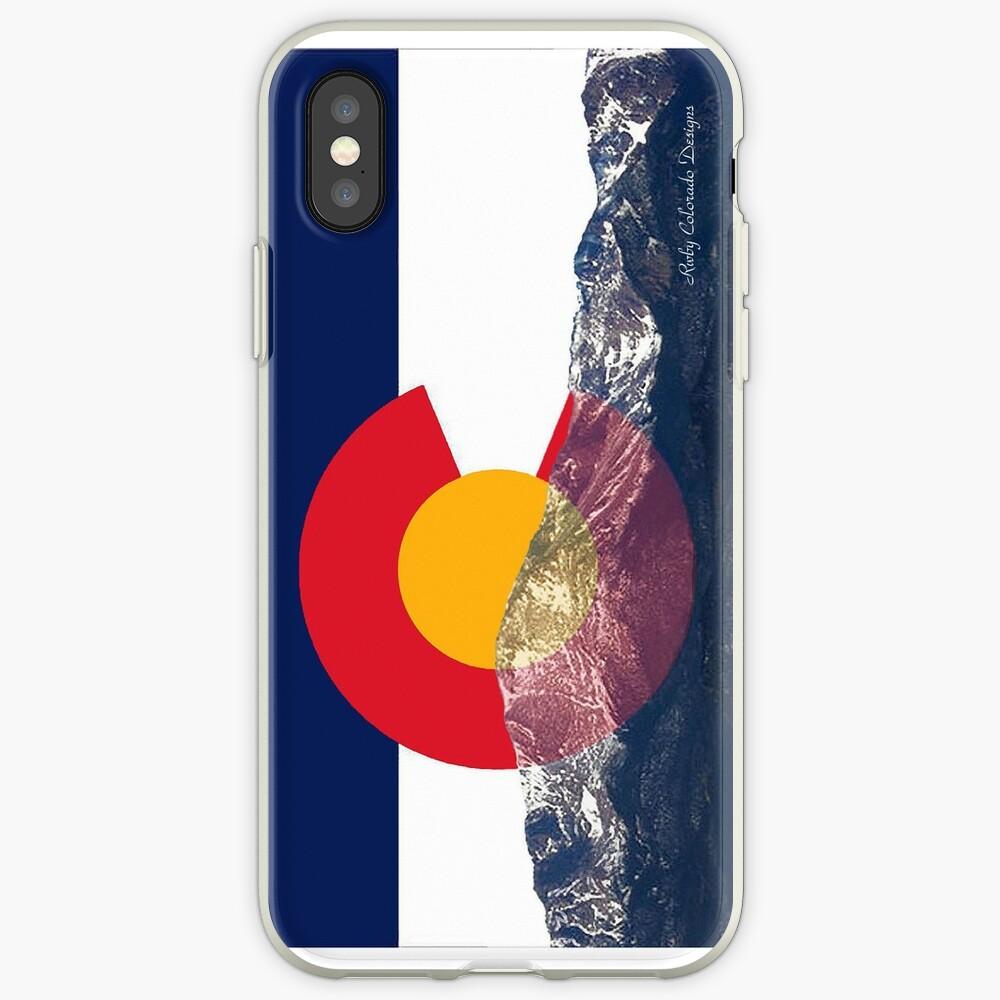 Bandera de Pikes Peak Colorado Vinilos y fundas para iPhone