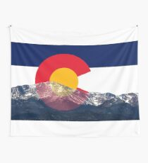 Pikes Peak Colorado Flagge Wandbehang