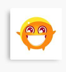 Extatic Round Character Emoji Canvas Print