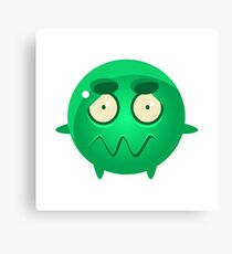 Confused Round Character Emoji Canvas Print