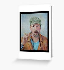 Self Portrait w/Green Cap Greeting Card