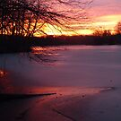Winter sunset on Greenbelt Lake by nealbarnett