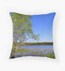marsh tree Throw Pillow