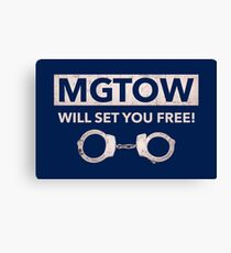 MGTOW WILL SET YOU FREE! Canvas Print