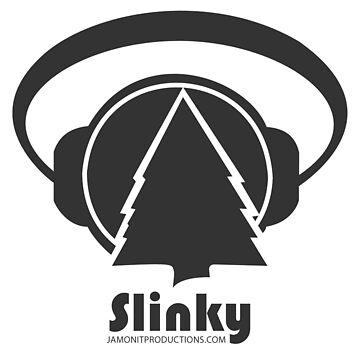 Gray on Black Slinky Logo by jamonitmack