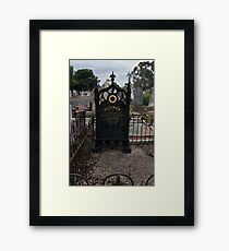 Germanic Headstone Framed Print