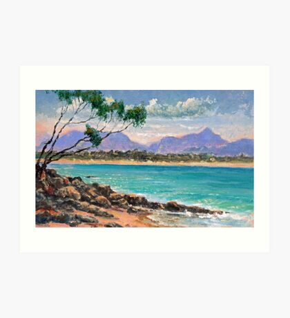 Looking North from Wategos Beach, Byron Bay Art Print