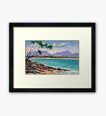 Looking North from Wategos Beach, Byron Bay Framed Print