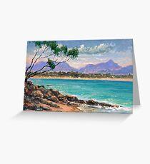Looking North from Wategos Beach, Byron Bay Greeting Card