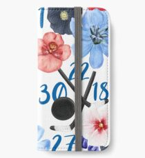 Vinilo o funda para iPhone Diseño floral de los New York Rangers