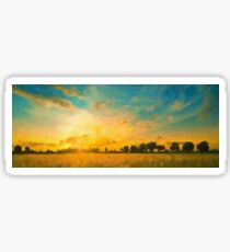 Beautiful evening in the countryside Sticker