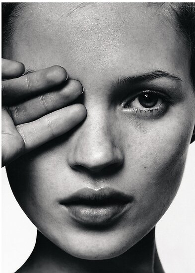 Kate Moss Modedruck, skandinavisches Poster von Natalie Digital Cloud