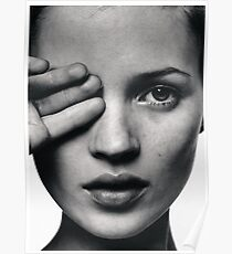 Kate Moss fashion print, Scandinavian poster Poster