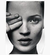 Kate Moss Modedruck, skandinavisches Poster Poster