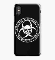 Zombie Outbreak Response Team w/ skull - dark iPhone Case
