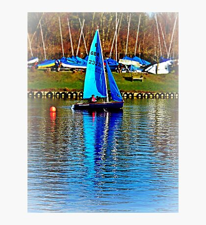 Little Bouy Blue Photographic Print