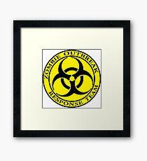 Zombie Outbreak Response Team - yellow Framed Print