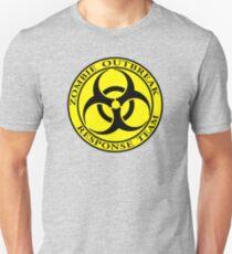 Zombie Outbreak Response Team - yellow Unisex T-Shirt