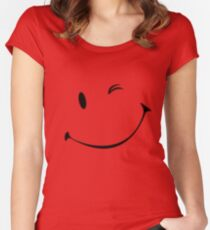 Winky face Women's Fitted Scoop T-Shirt