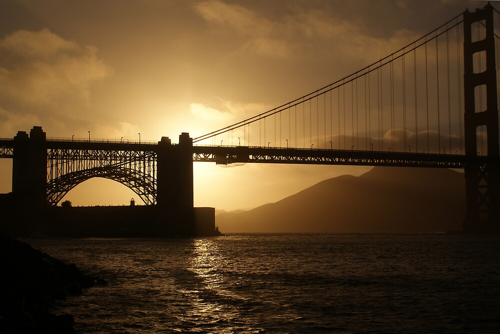 Golden Gate at Sunset by Marc Payne Photography