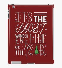 Most Wonderful Time of The Year - Red iPad Case/Skin