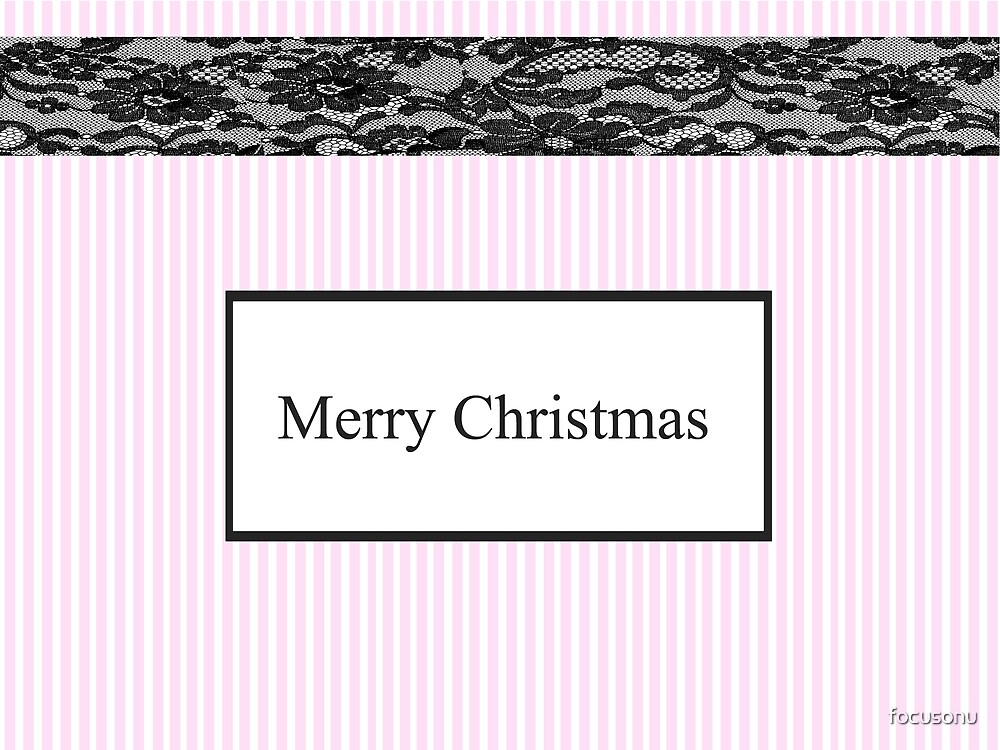 Candy stripe Christmas card by focusonu