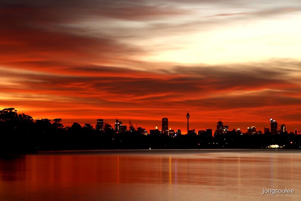 river sunrise by jongsoolee