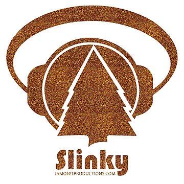 Slinky Logo in Gold Glitter by jamonitmack
