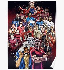 Francesco Totti (AS Roma and Italy NT) Poster