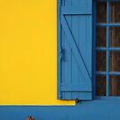 Blue Yellow House in Aveiro Portugal by TalBright