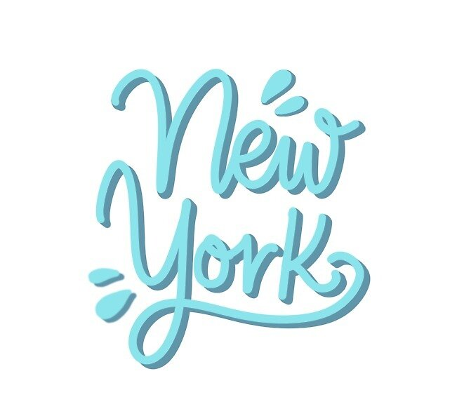 New York Hand Lettering by Miruna Illustration