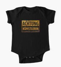 ACHTUNG KÜNSTLERIN - German Artist Metal Sign - Deutsches Schild Kids Clothes