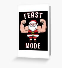Santa Feast Mode  Christmas  Dinner Table Beast  Gym Workout  Merry Fitmas Ho Ho  Fitness Weights T-Shirt Sweater Hoodie Iphone Samsung Phone Case Coffee Mug Tablet Case Gift Greeting Card