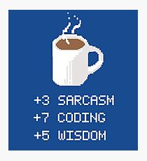 Coffee stats programmer Photographic Print