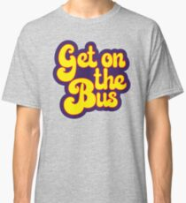 Hippie Typography - Get On The Bus - Psychedelic 60s Text Classic T-Shirt